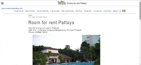 Room for rent Pattaya